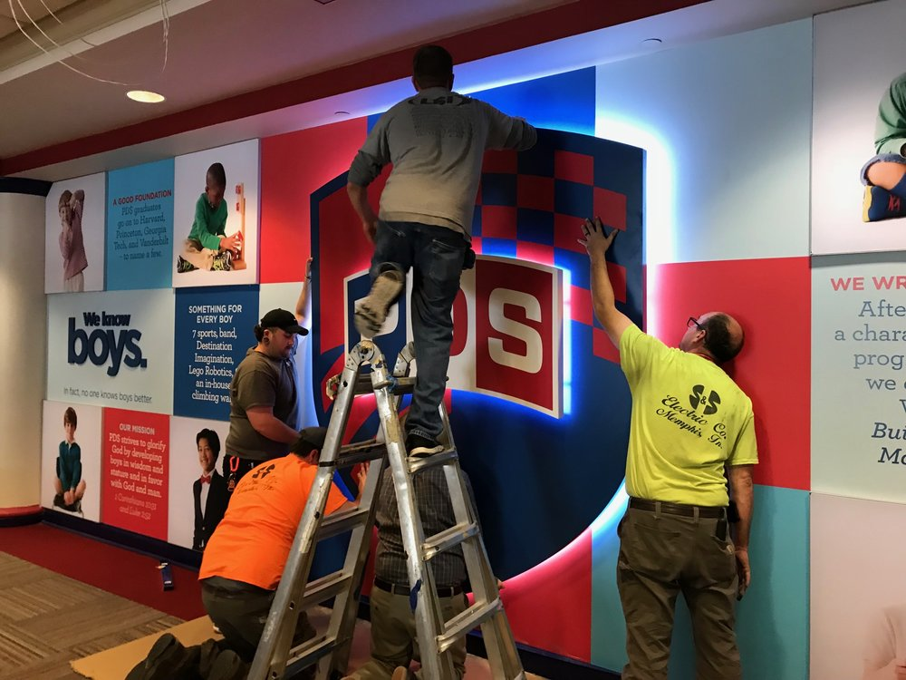Presbyterian-Day-School_Dimensional-Letters-and-Logos_Interior-Signage_LSIGraphics_Memphis-TN_3 ..