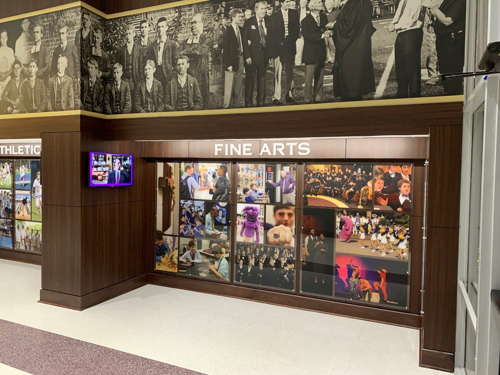 Christian-Brothers-High-School_Fine-Arts_After-Renovation_Interior-Branding_Dimensional-Letters_Acrylic-Prints_Architectural-Surfaces_LSIGraphics_Memphis-TN ..