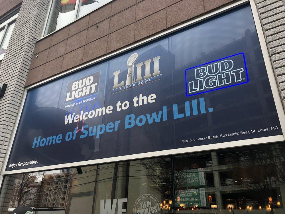 Anheuser-Busch-Super-Bowl-LIII_Twin-Smokers-Restaurant_Window-Graphics_Events_LSIGraphics_Atlanta-GA_3 ..