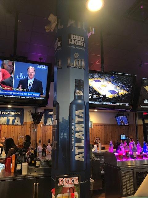 Anheuser-Busch-Super-Bowl-LIII_Hooters-Restaurant_Pole-Graphics_Events_LSIGraphics_Atlanta-GA ..