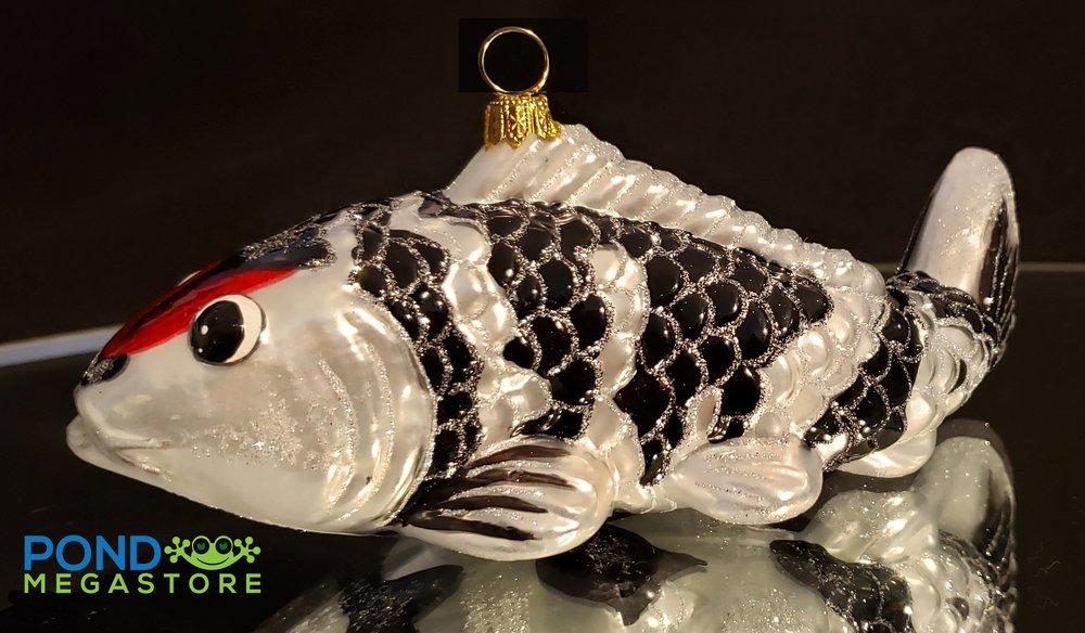 https://pondmegastore.com/products/koi-fish-ornament-tancho-koi-black-and-white-with-red-dot-on-head