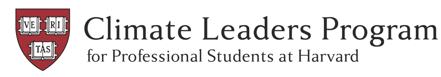Climate Leaders Program for Professional Students at Harvard
