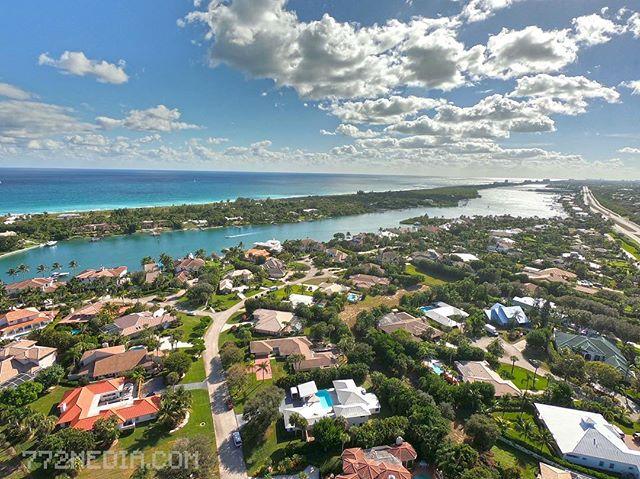 Jupiter, Florida from 300ft  #jupiterfl #jupiterinlet #drone #gopro #atlanticocean #florida
