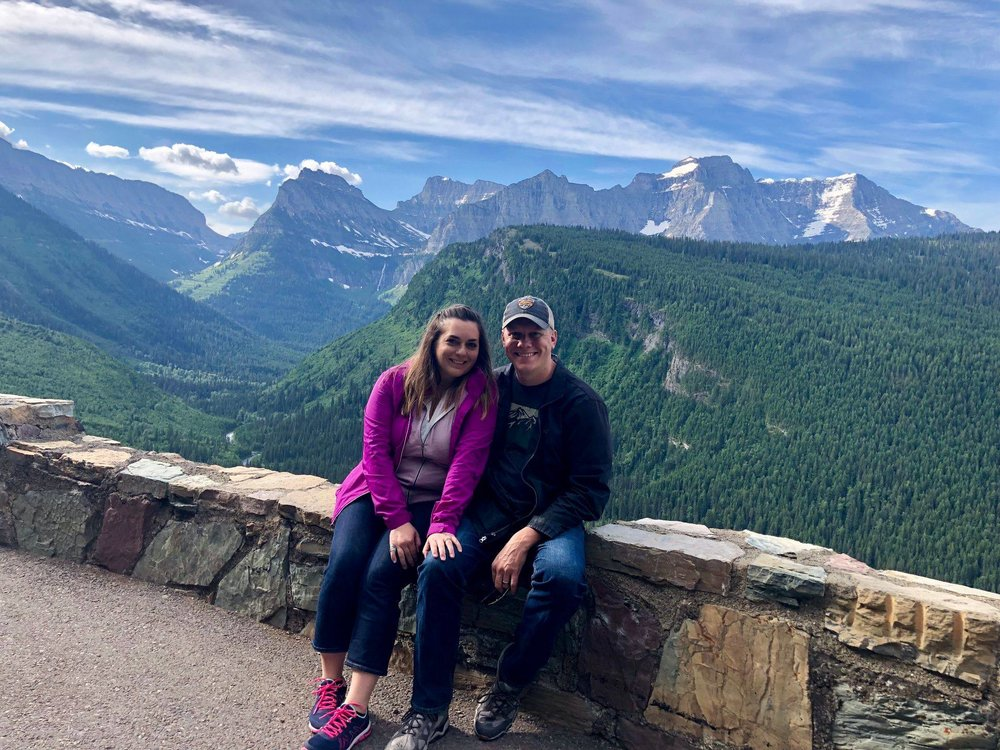 Dan and Tracy Kellermeyer visiting Glacier National Park