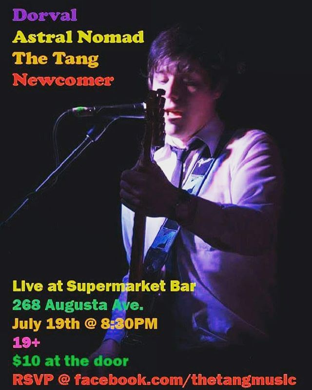 We're finally playing the Supermarket in Kensington Market! Two markets in one! Thursday July 19, slam that in your calendars folks and prepare for a very pleasant evening 😜 — #super #market