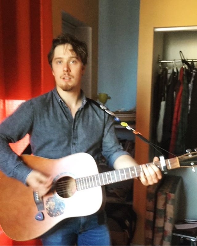 Here we have Sir @daniel.lewycky playing the guitar. Wanna see it for real? July 19 at @supermkttoronto, 10pm! Throw it on your calendars! See our previous post for deets! #band #music #toronto #gig