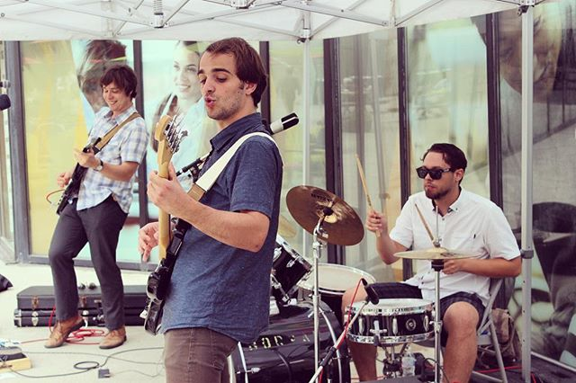 We're playing at @nookfest today at 1pm :) It's fun doing these outdoor shows 🌿 PC: @downtownyonge at #collegepark