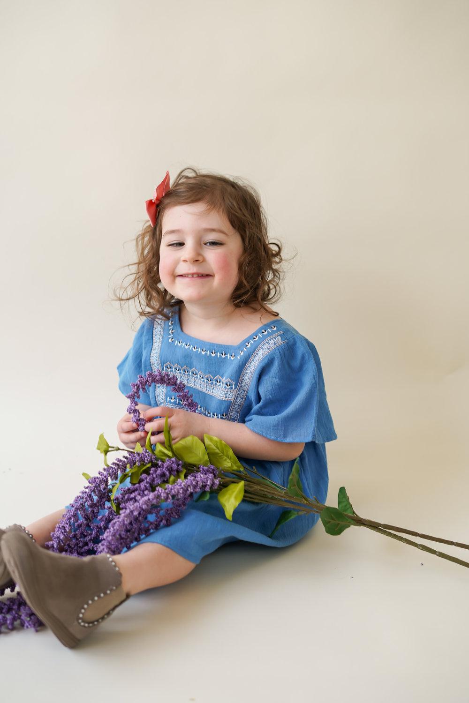 Aria in indigo with lavender