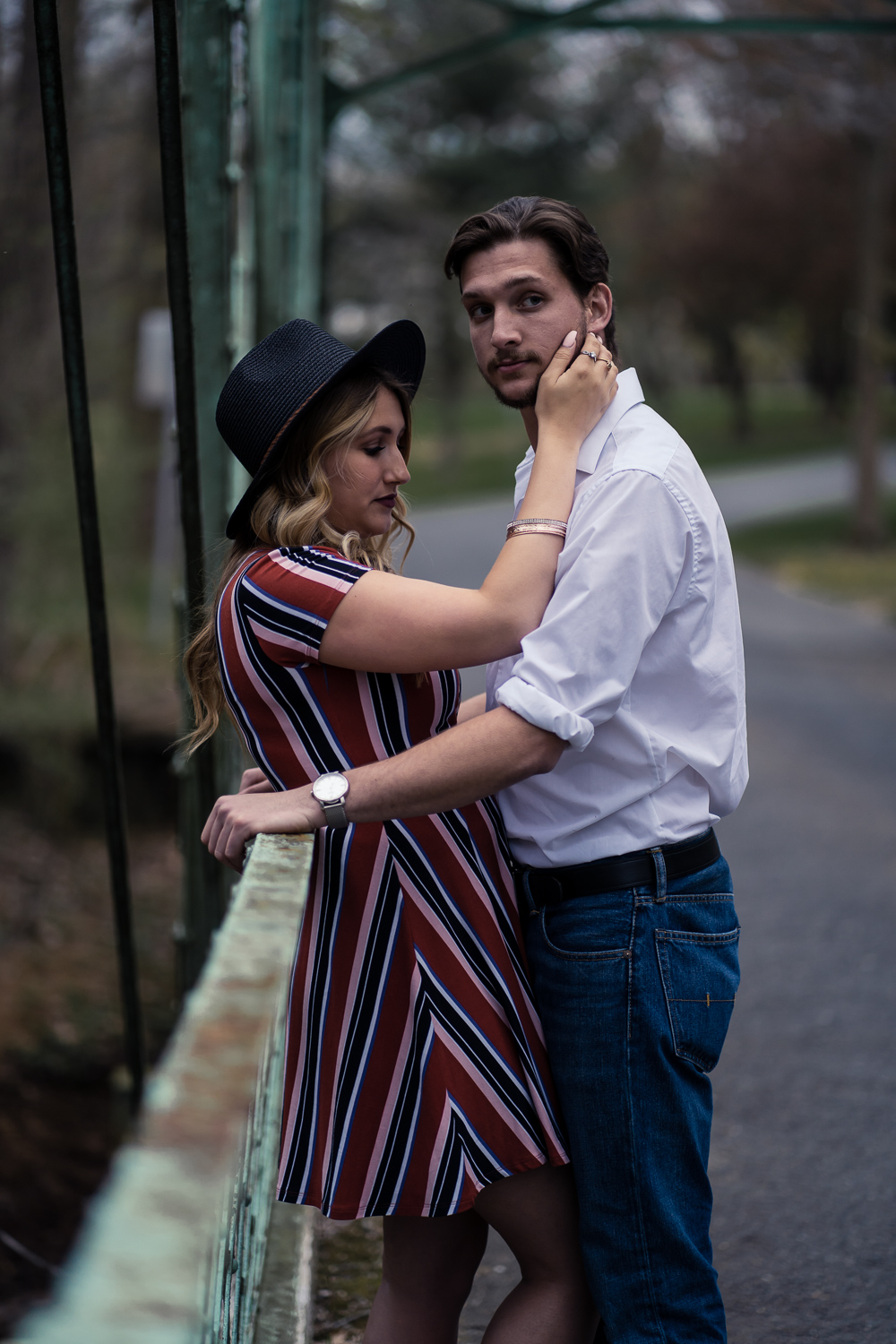 Kylie and Tommy pause for a moment on a bridge in Howell, New Jersey.jpg
