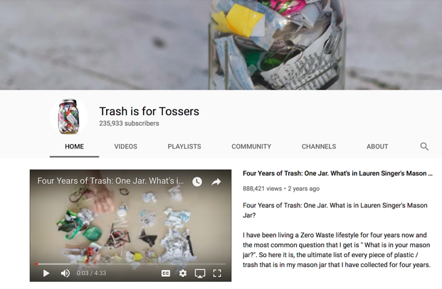 Trash For Tossers YouTube Page