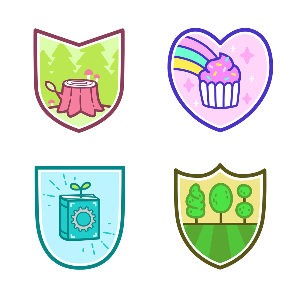 Icon designs for in-game club emblems.