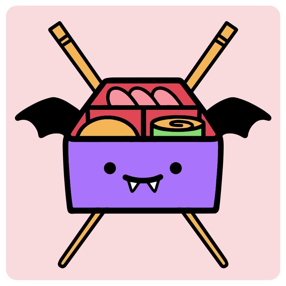 """Vampire Bento"" design for in-game shop logo."