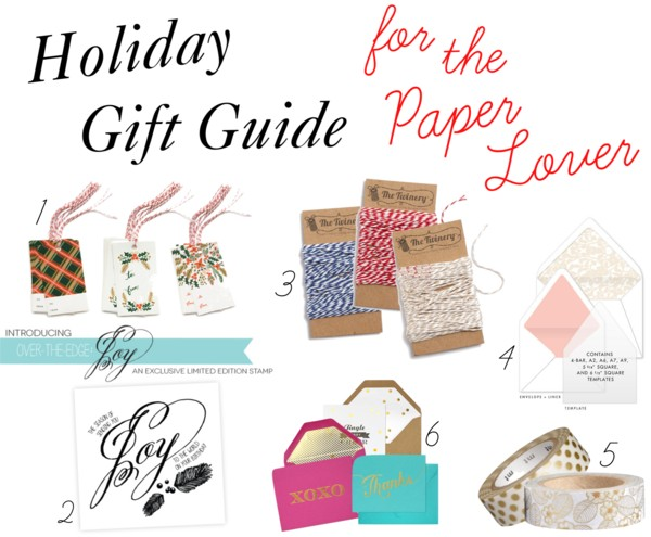 Holiday Gift Guide for the Paper Lover