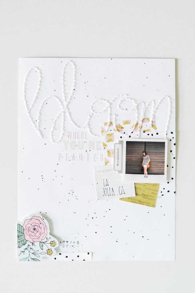 Bloom Where You're Planted Scrapbook Layout - Noodoso