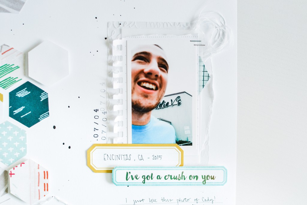Crush On You Scrapbook Layout - Noodoso