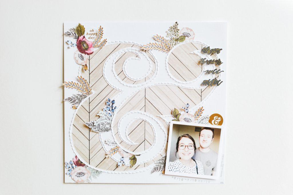 Wildflower Scrapbook Layout - Noodoso