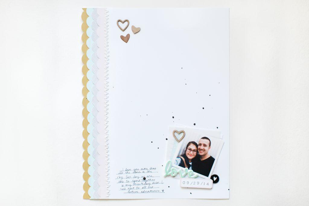 Love You | Scrapbook Layout - Noodoso