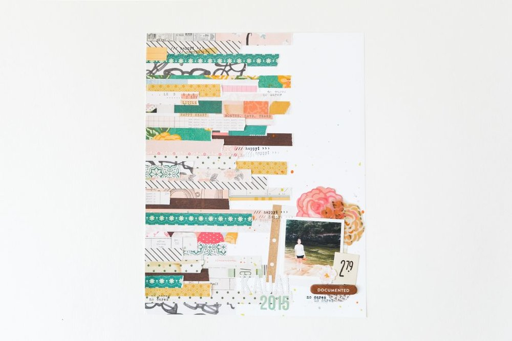 Using Paper Scraps to Create a Layout - Noodoso