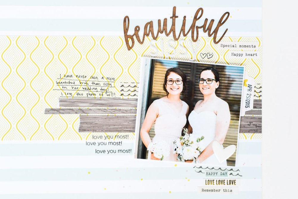 """Beautiful"" Layout by Suzanna Stein - Noodoso"