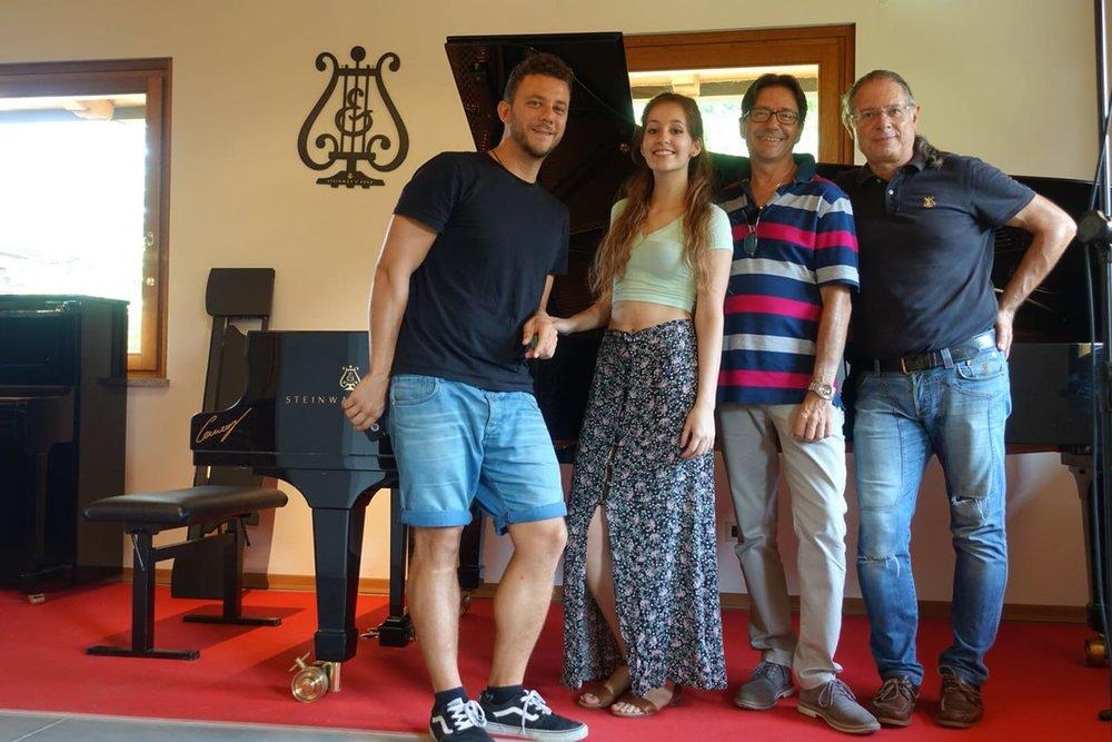 Lavinia Bertulli - qui allo Studio della Steinway&Sons di Lorenzo Cerneaz per registrare Beethoven, Schumann e Chopin