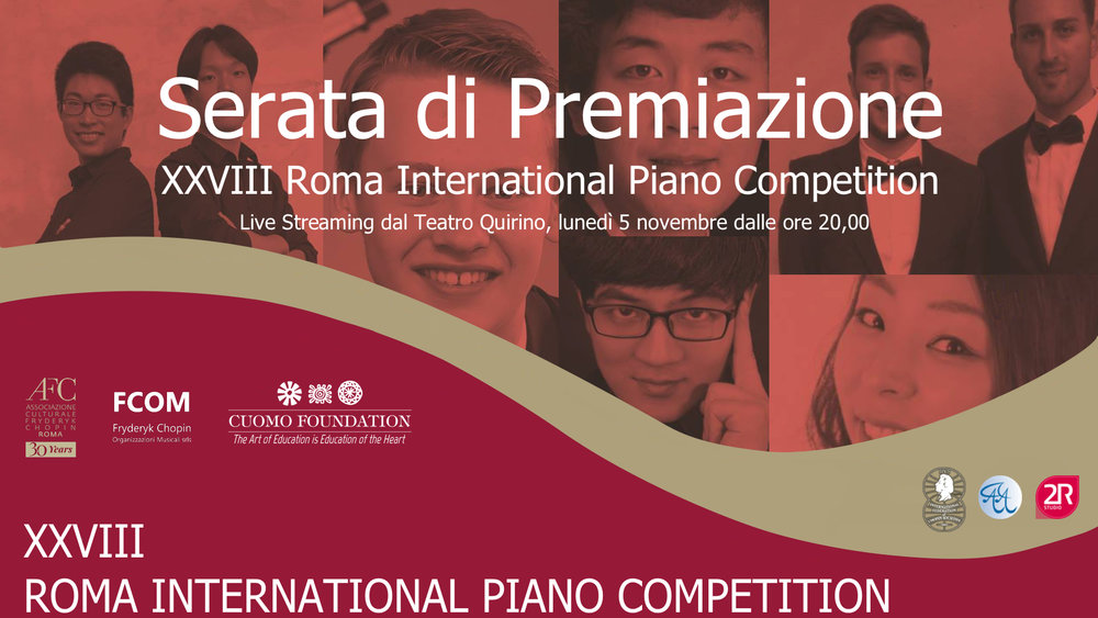 Prizewinners' Concert Live Streaming - Monday 5 November at 20,00 PM