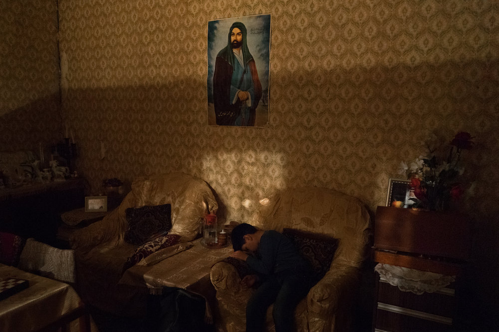 While exploring Tbilisi and Baku I spent the night at the homes of different families. The images represent a search for intimacy, for spaces that describe somebody's life, both real and imagined.  Letters of a passenger,  2015-2017