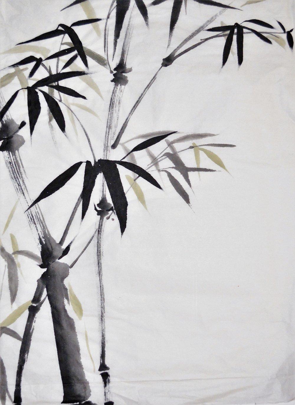 Bambú con toque verde