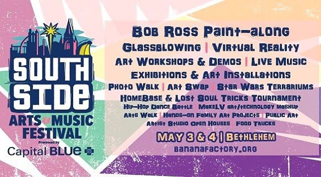 🤞🏼for good weather!  Swing on down to the SouthSide this weekend!  Happy to say I'll be set up with fresh paintings n prints available! * * * * * * #bethlehem #lehighvalley #southsideartsandmusicfestival #artist #canvasart #forsale #comeseeme #festivalseason #steelcity #artlovers #highervibes