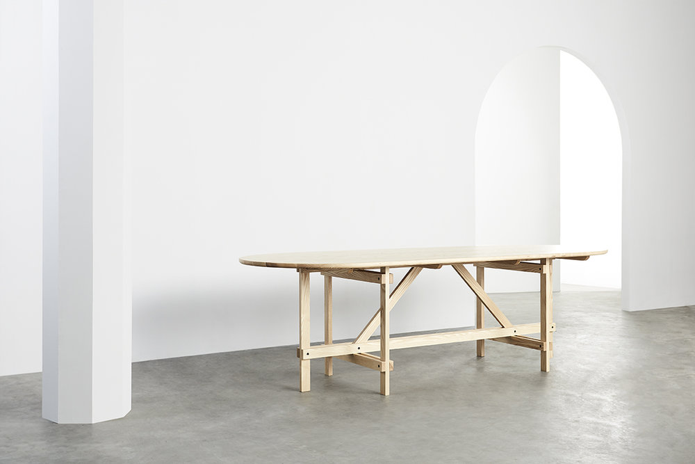 Arch Table - Braced Frame  (Natural Ash)