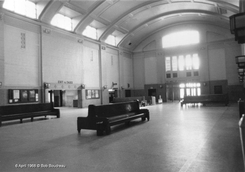 The Concourse of Union Station, Saint John, New Brunswick 1968