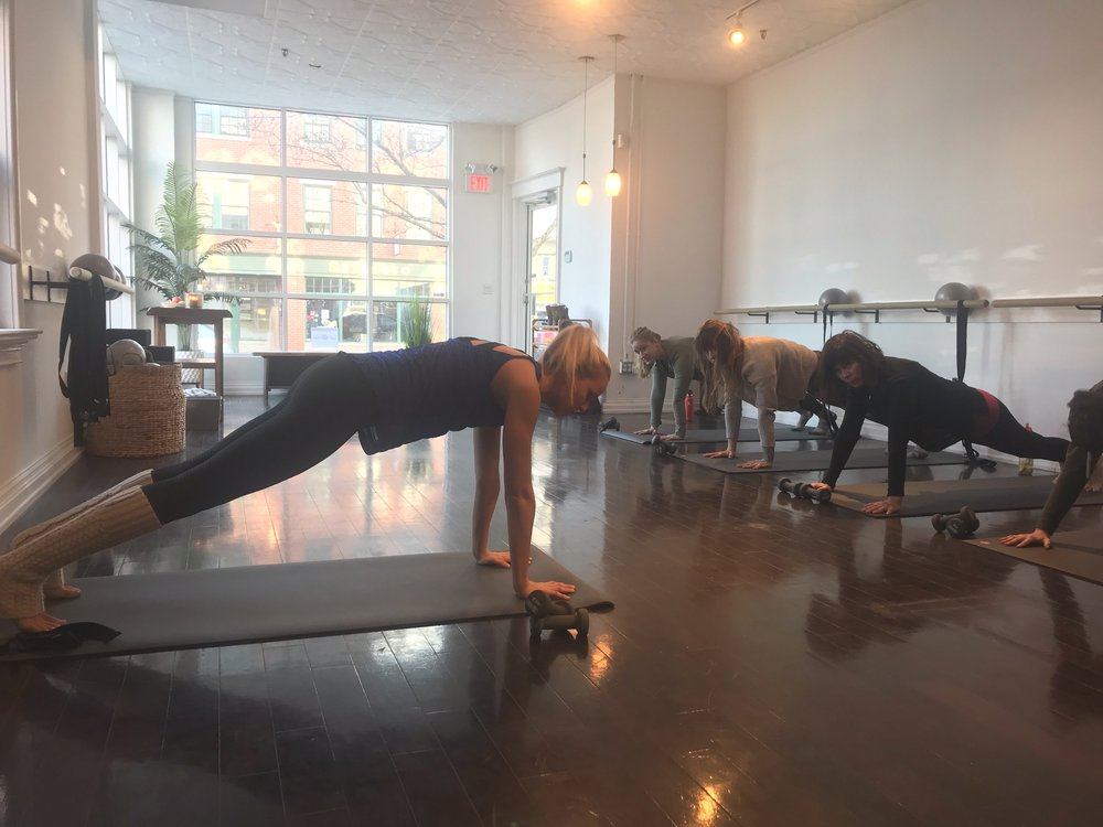 challenge yourself at the barre