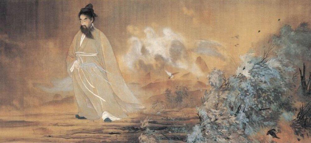 Yokoyama Taikan (1868-1958),  Qu Yuan , 1898, Itsukushima Shrine, Japan