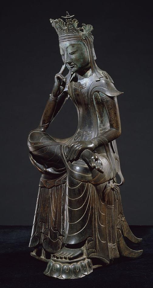 Pensive bodhisattva, late 6th century, National Museum of Korea