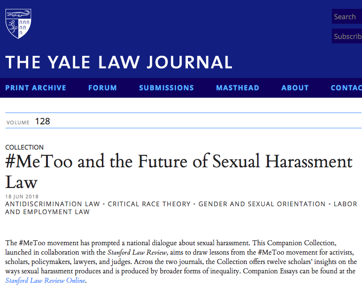 Reconceptualizing sexual harassment