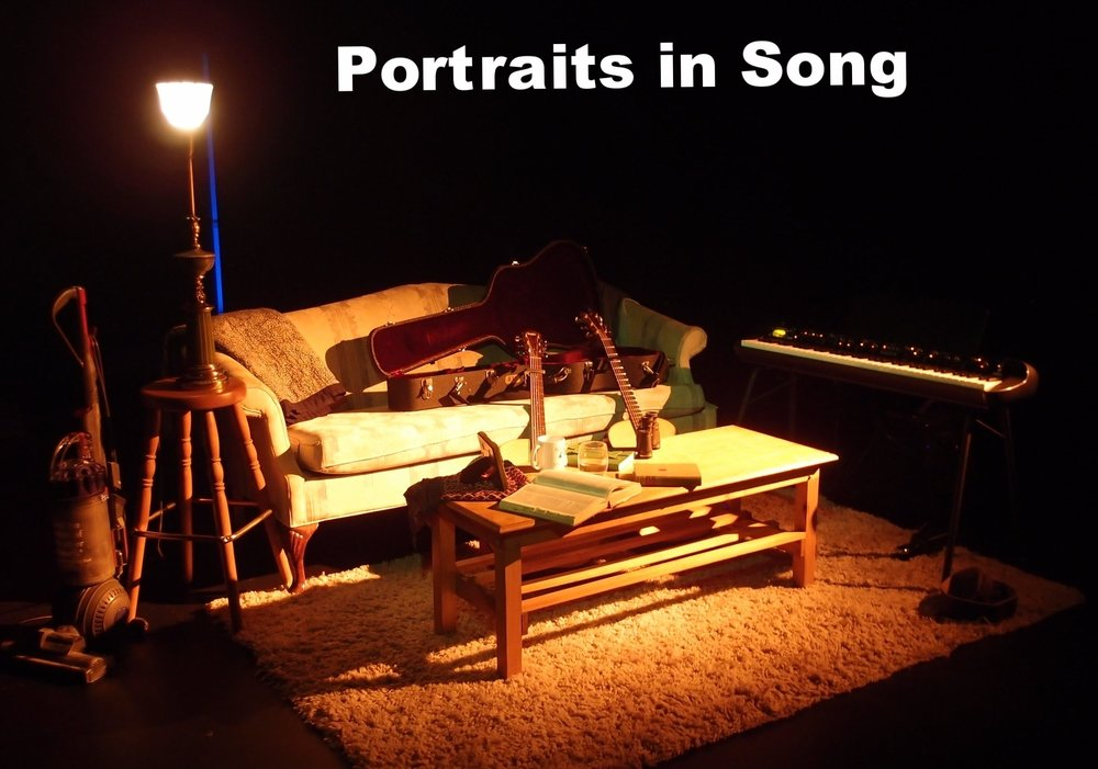 "From the set of my first one-woman show, ""Portraits in Song"""