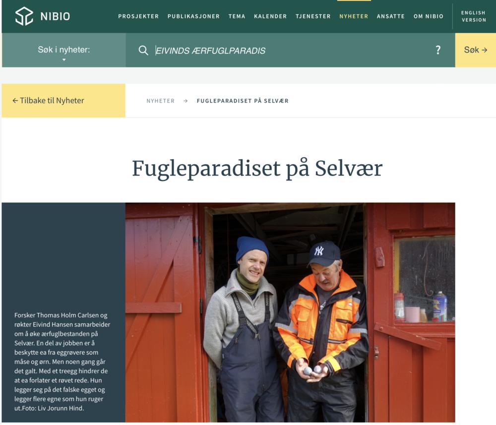 Tekst og foto er gjengitt med tillatelse fra NIBIO.