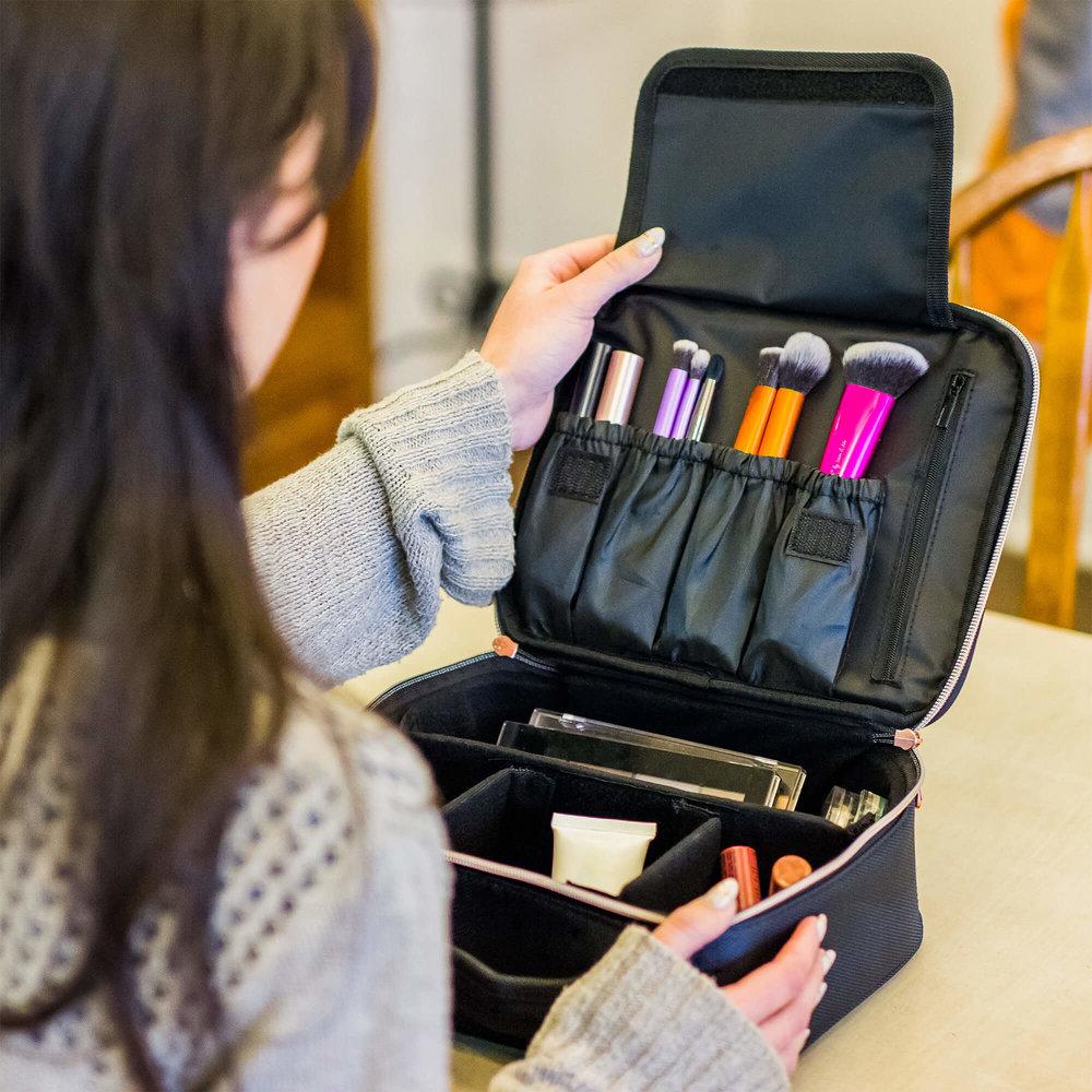 Travel Makeup Bag Cosmetics Train Case Portable makeup organizer for women make up - BEAUTYBOX 11.jpg