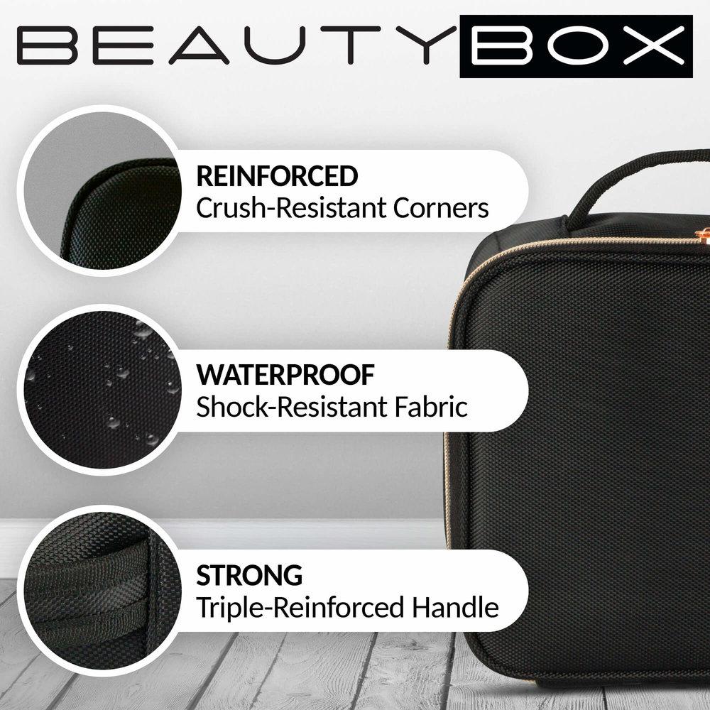 Travel Makeup Bag Cosmetics Train Case Portable makeup organizer for women make up - BEAUTYBOX 1.jpg
