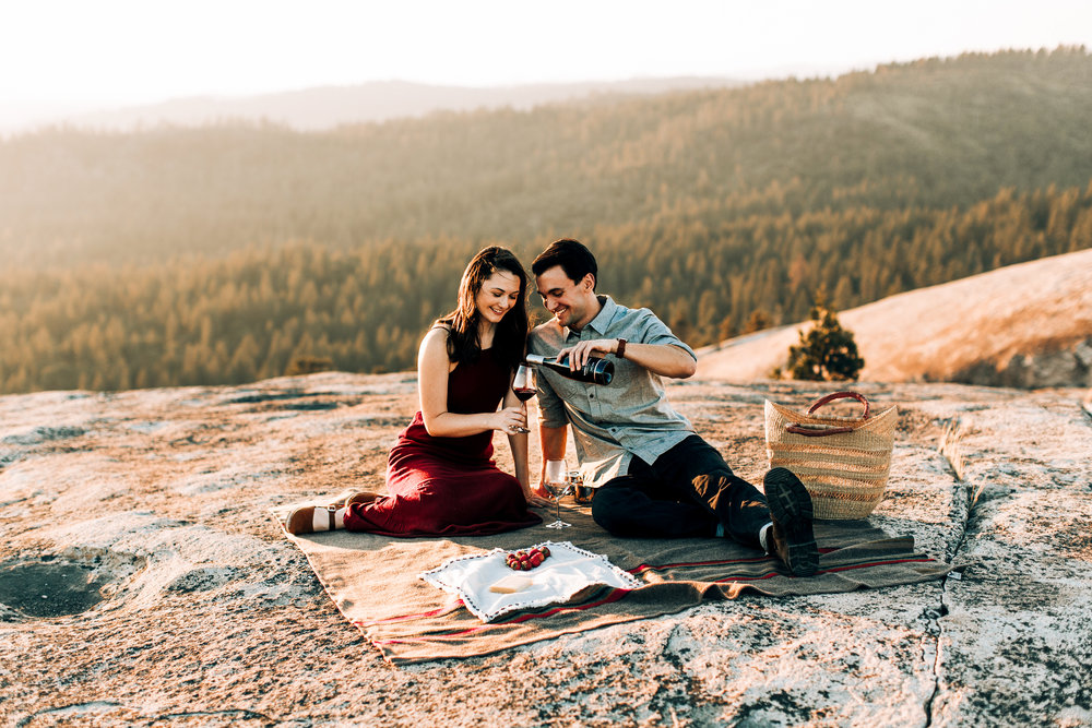 Picnic on a mountain top! Goals.