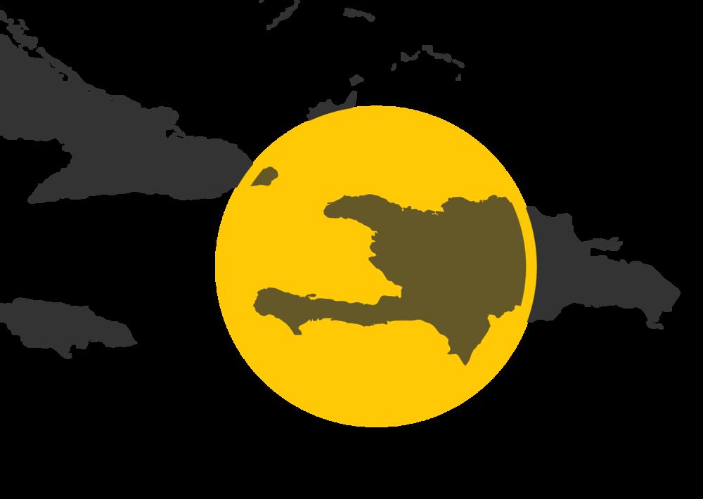 Map highlighting Haiti.