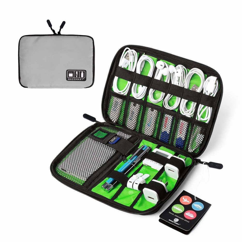 BAGSMART Travel Cable Organizer Portable Electronics Accessories Cases