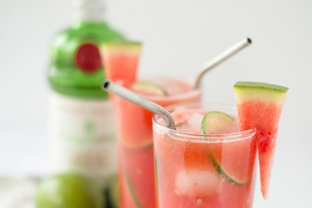 gin+watermelon+rosewater refresher
