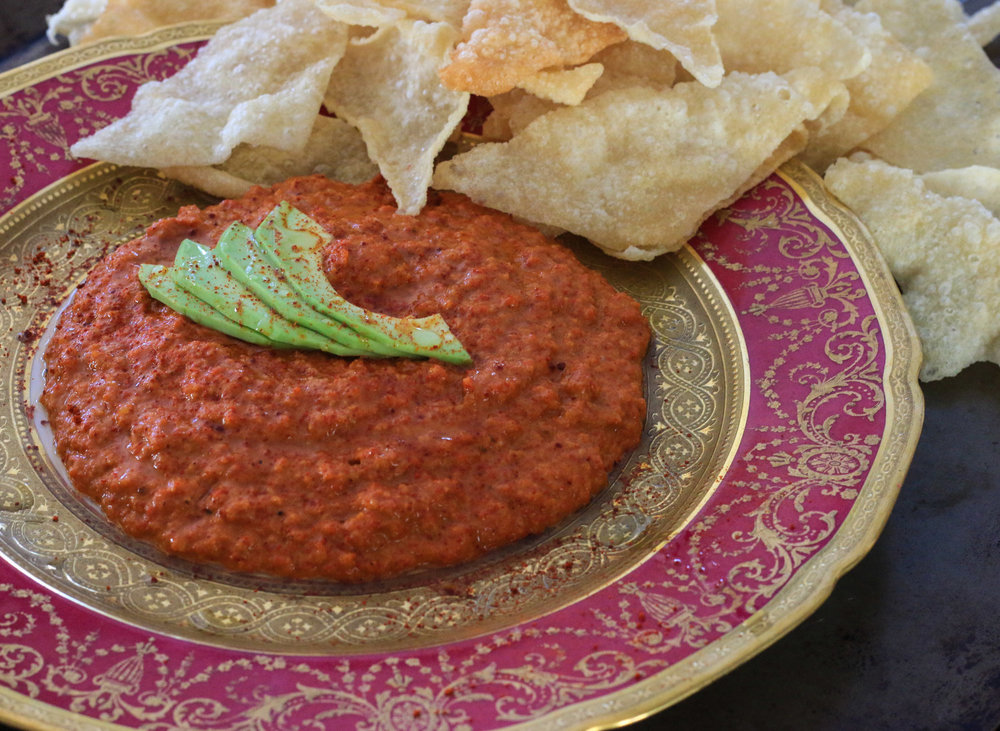 Mouhammara (Roasted Red Pepper Dip)