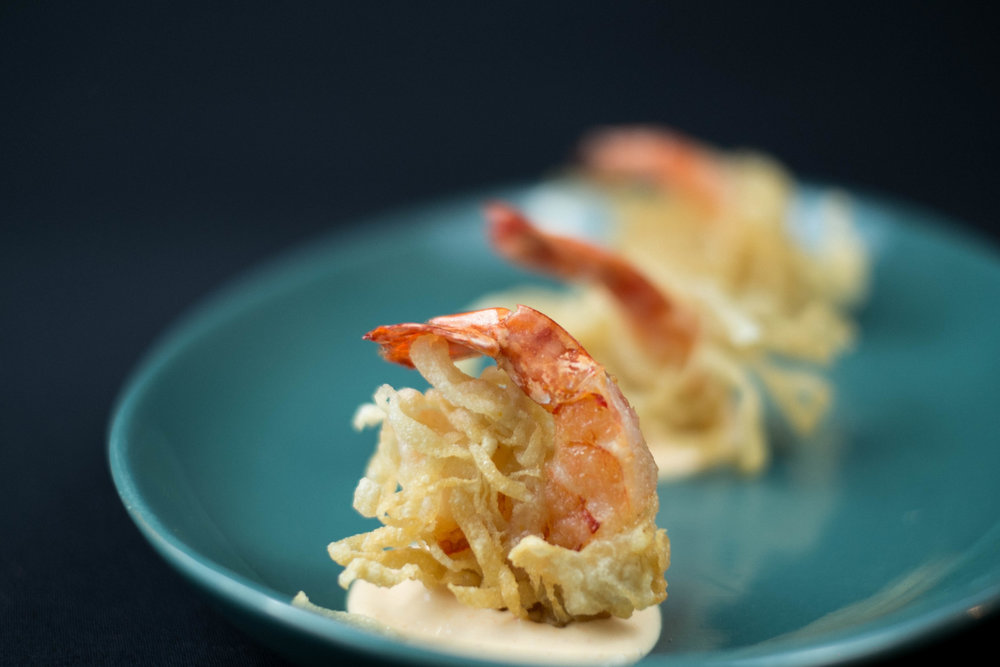 Wonton Prawns with Spicy Aioli