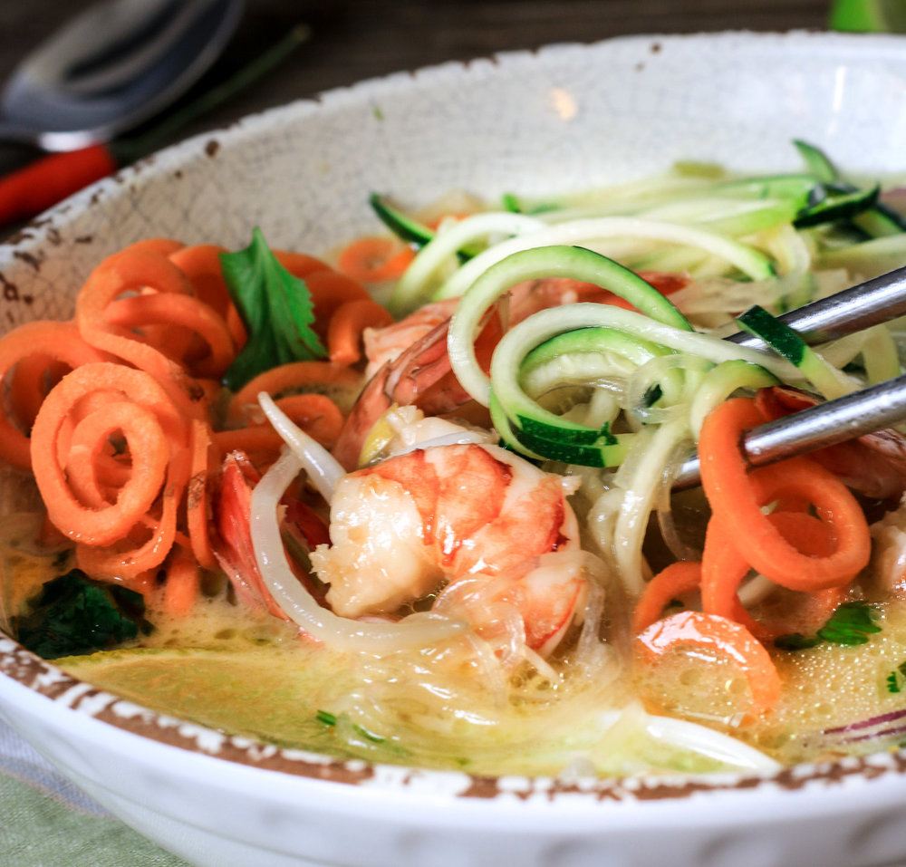 Thai Green Curry Soup with Shrimp