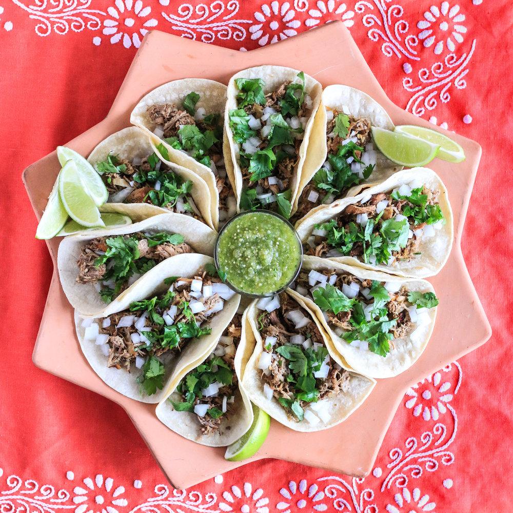 Carnitas with salsa verde