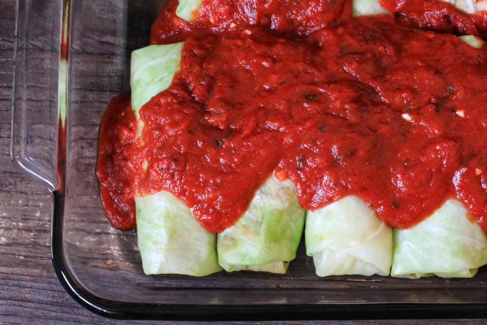 Sausage Quinoa Cabbage Rolls