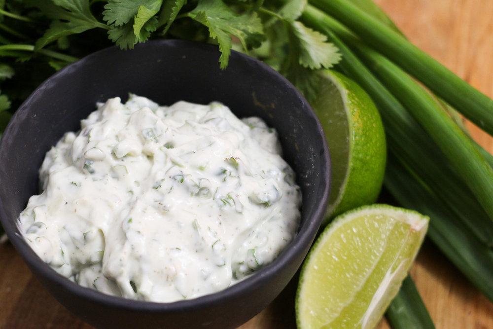 Creamy Cilantro Dipping Sauce