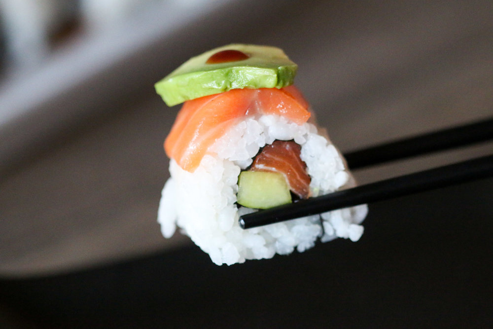 Salmon Cucumber Avocado Roll