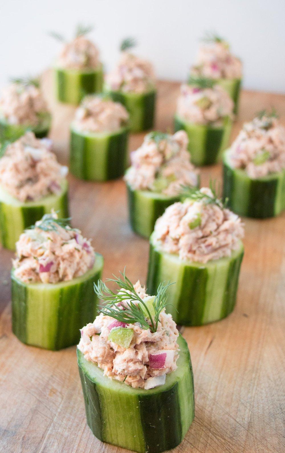 Tuna Cucumber Cups